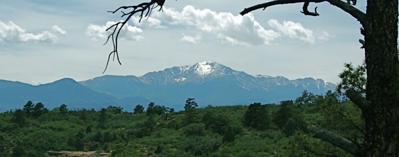 Pikes Peak from Templeton trail