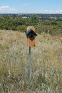 Bluebird nesting box